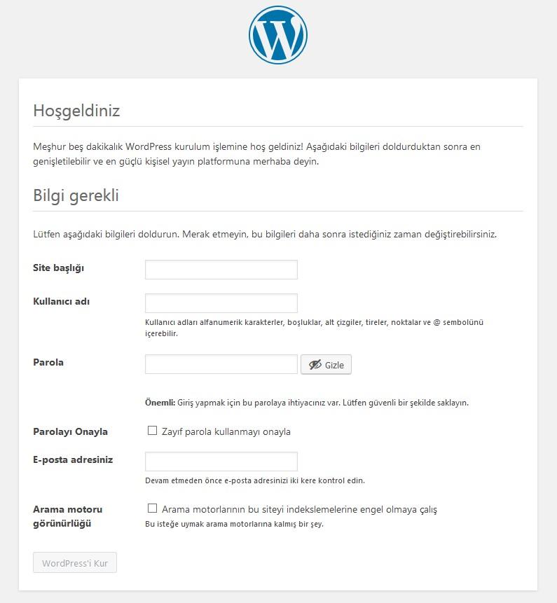 WordPress Manuel Kurulumu
