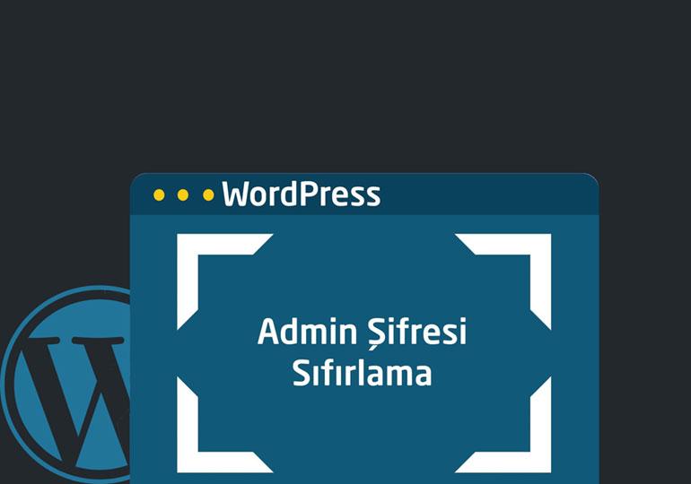 unutulan wordpress şifresi değiştirme